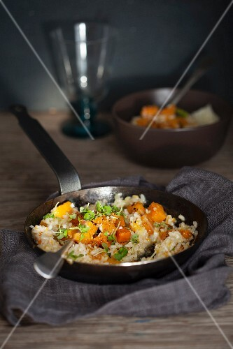 Risotto with pumpkin, Gruyere and Sage