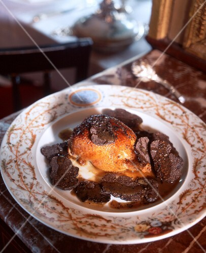 Roasted quail with truffles