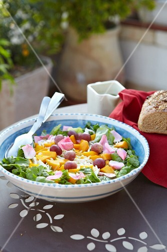 Mango and grape salad