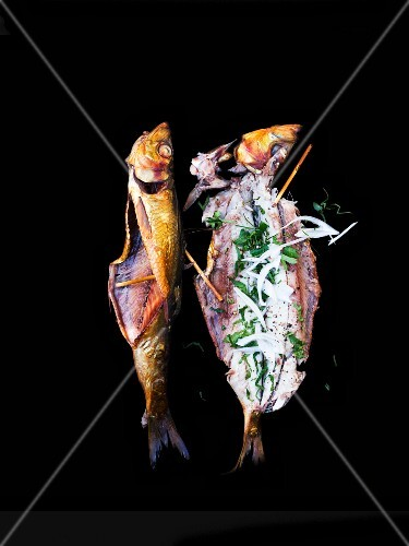 Grilled fish with herbs