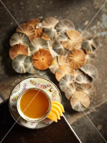 Rooibos teas with peaches