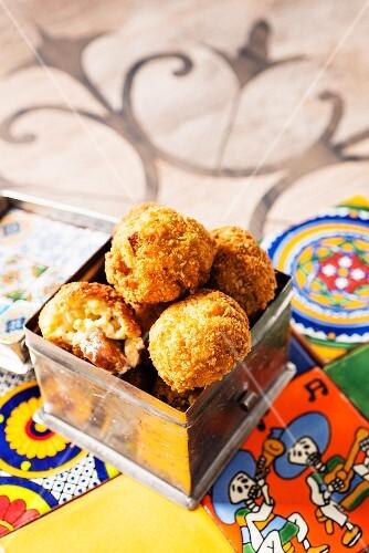 Tangy chorizo balls
