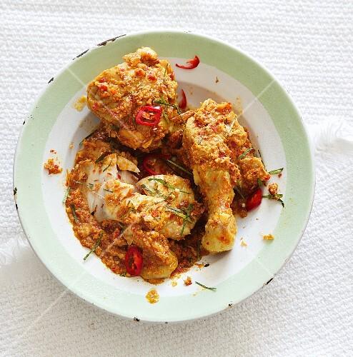 Chicken Capitan (chicken curry, Malaysia)