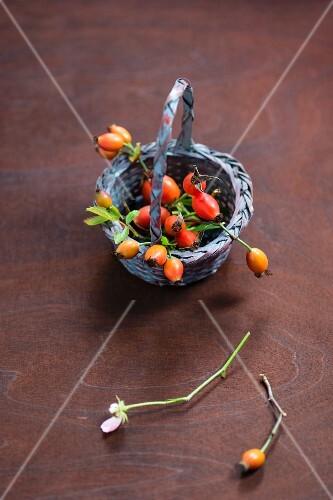 A basket of rosehips