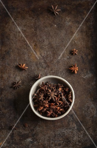 A bowl of star anise