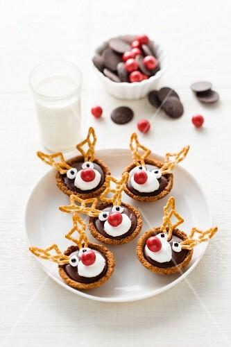 Christmas reindeer tartlets