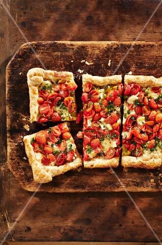 Rustic tomato tart