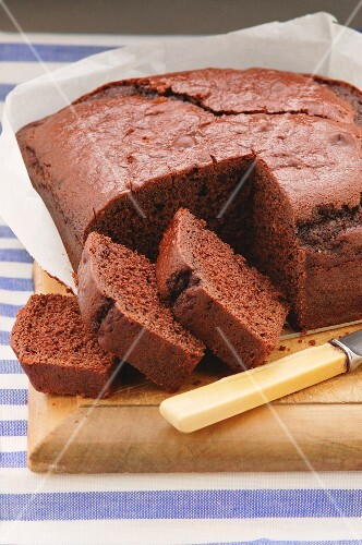 Sliced beetroot and chocolate cake