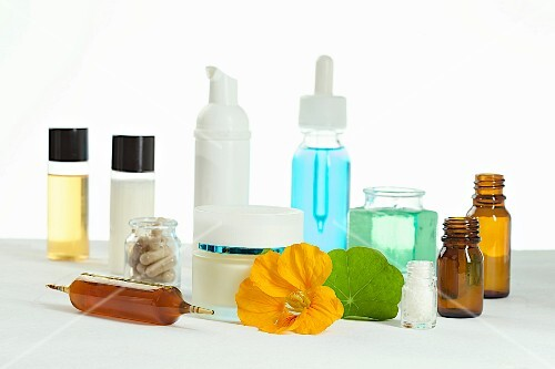 Cosmetics and nutritional supplements made from fresh nasturtium flowers