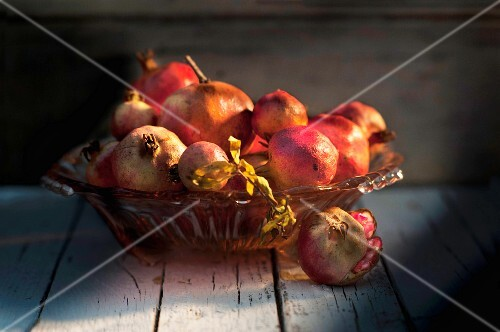A bowl of pomegranates