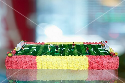 A football cake for a children's birthday party