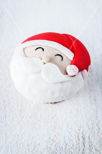A Father Christmas cupcake