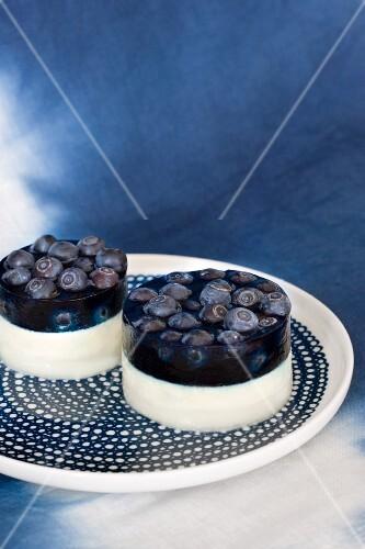 Blueberry cream cheese tartlets