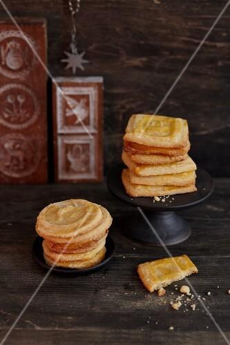 Homemade Spekulatius (German Christmas shortcrust biscuits)