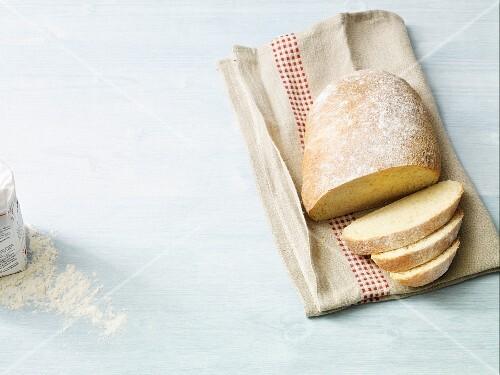 No knead ciabatta baked in a pot