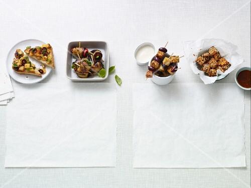 Four quick vegan canapes