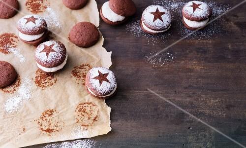 Christmas whoopie pies