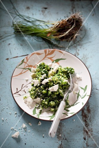 Spinach risotto with Parmesan