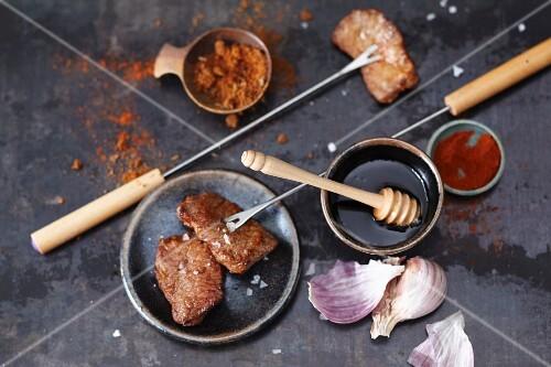 Spicy lamb fondue