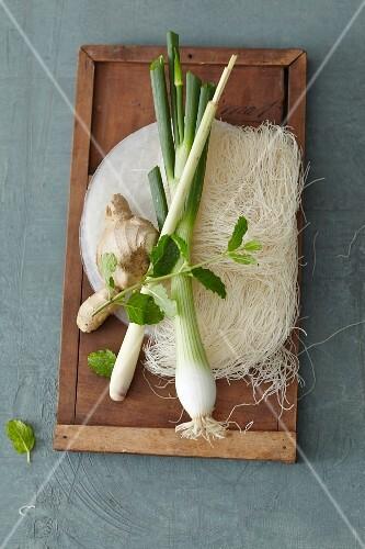 An arrangement of Oriental ingredients