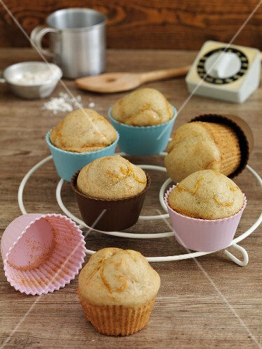 Muffins with orange zest