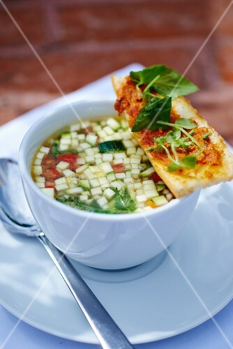 Bouillabaisse with grilled bread