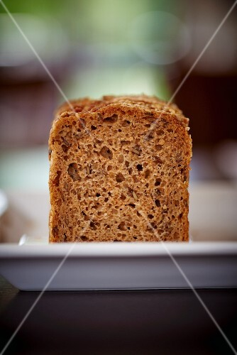 Wholemeal bread on a plate