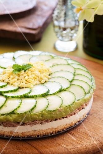 Spicy tuna fish cake