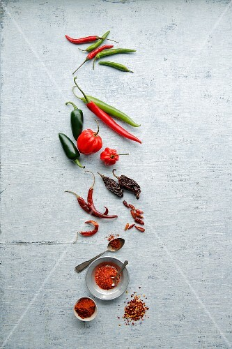 Chillis: fresh, dried, chilli powder and chilli flakes