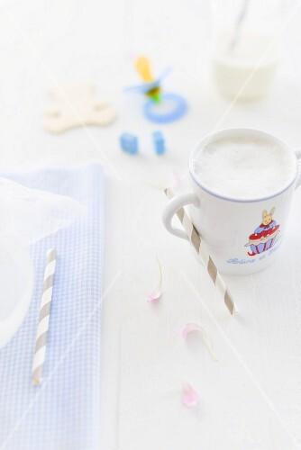 Baby milk in a beaker