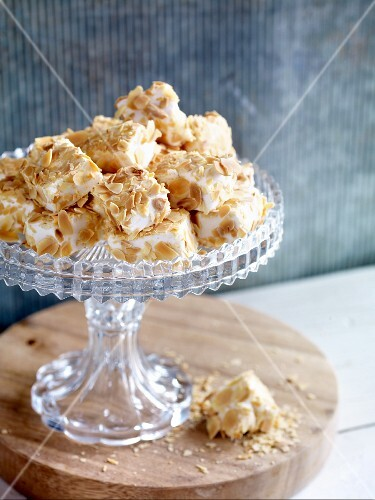 Homemade honey and almond marshmallows