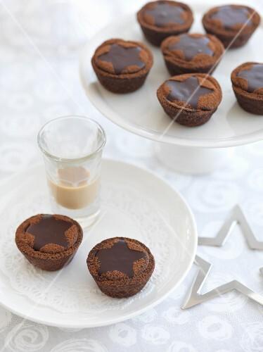 Baileys chocolate tarts for Christmas