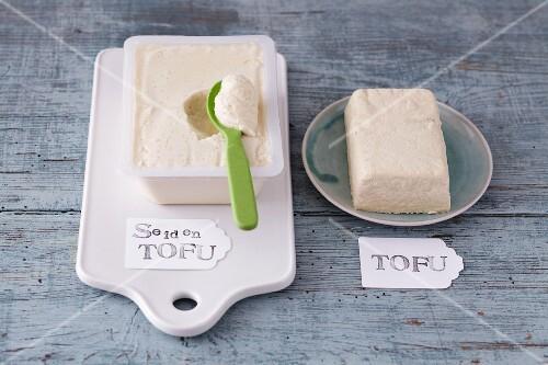 Silken tofu and tofu