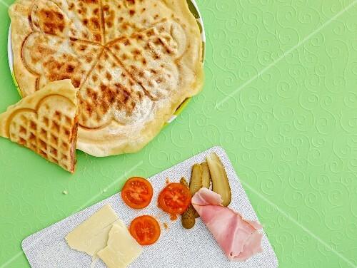Croque Monsieur waffles