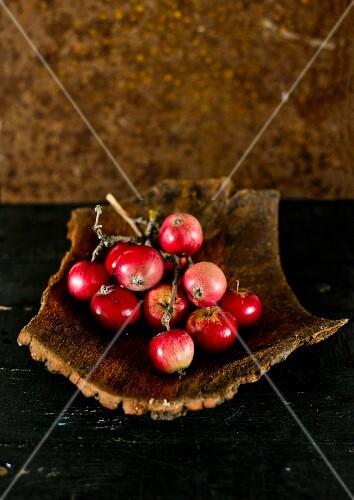 Red apples in a wooden bowl
