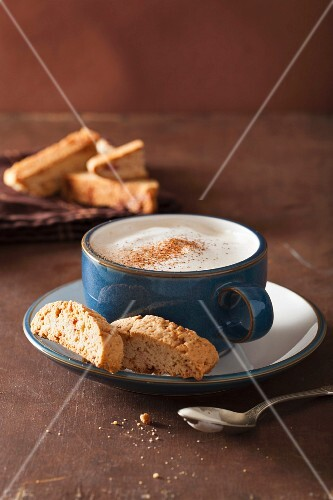 Cappuccino and biscotti
