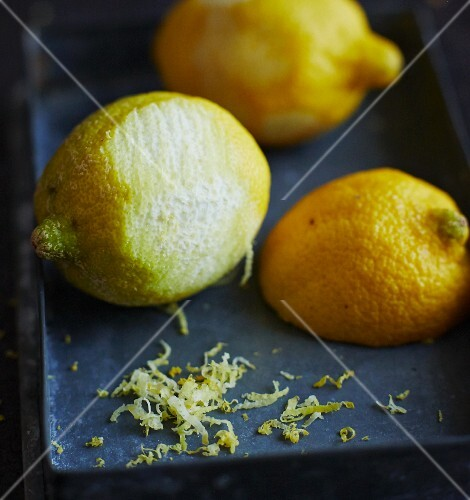Lemons with grated zest