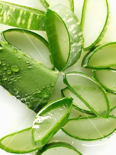 Slices of aloe vera