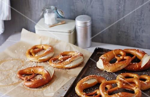 Lye bread pretzels