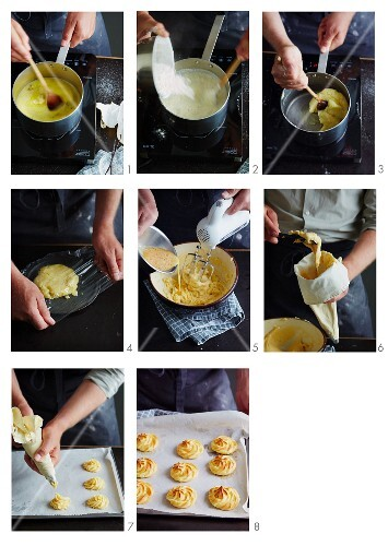 Profiteroles being made