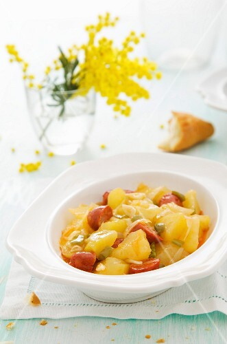 Potato stew with chorizo