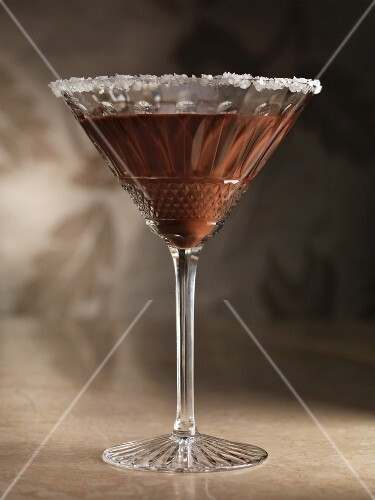 A chocoloate martini
