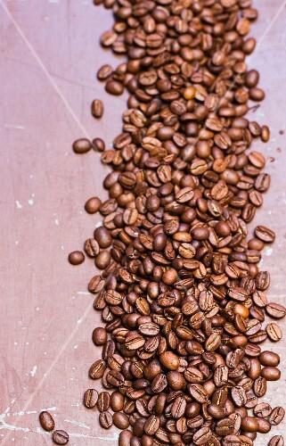 Coffee beans (overhead view)