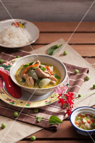 Green curry with chicken and rice (Thailand)
