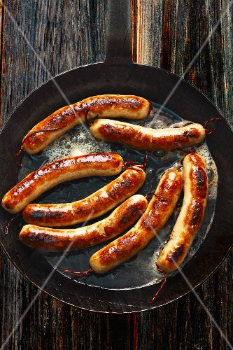 Franconian sausages in a pan