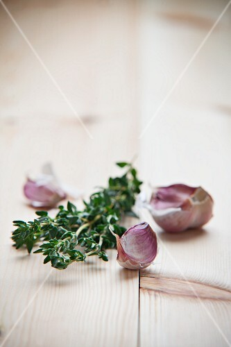 Garlic and fresh thyme
