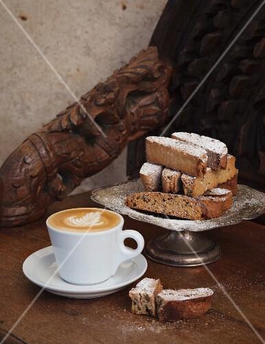 Espresso biscotti served with coffee