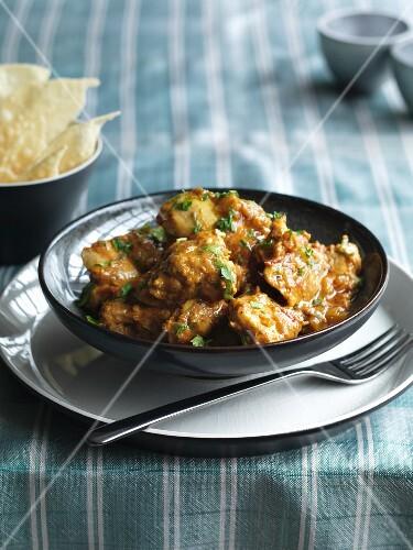 Chicken balti with chillis (India)