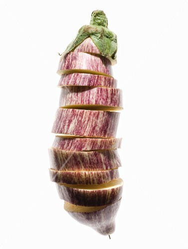 A Stack of Sliced Eggplant