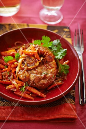 Veal tagine with coriander